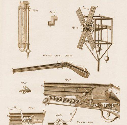 Схема винтовки Жирардони и